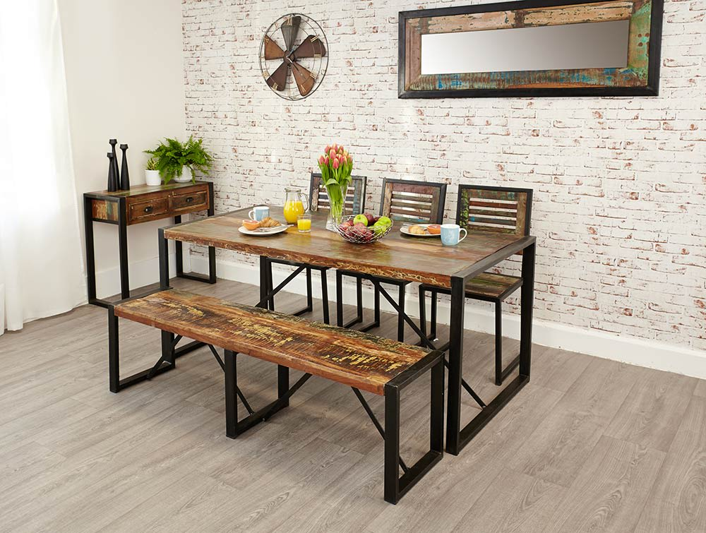 Bench style dining room