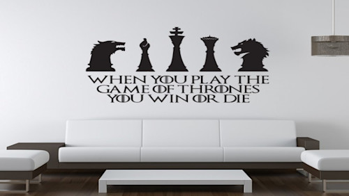 iconic wall stickers for 'game of thrones' fans