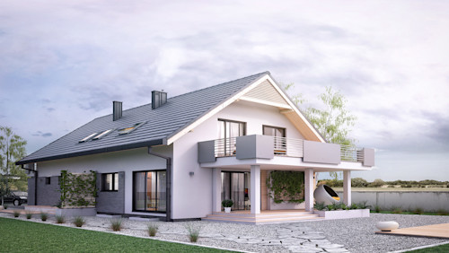A modern take on the classic detached family home model (+ floor plans)