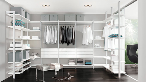 Clever open-closet designs for a super organised wardrobe