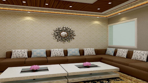 Apartment in Ghaziabad with modern furniture and lighting
