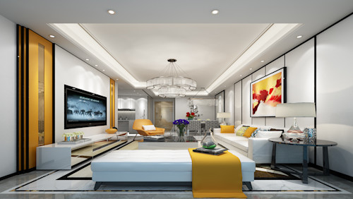 Elegant Living Room and Bedroom Design in Gurugram