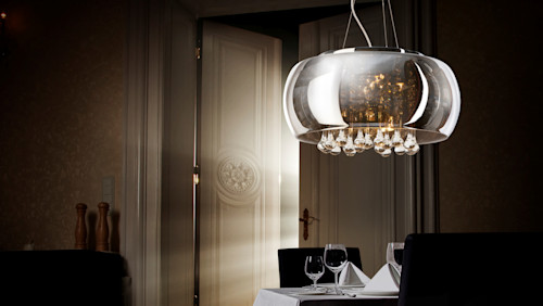 The BURN crystal lighting pendant by Luxury Chandelier