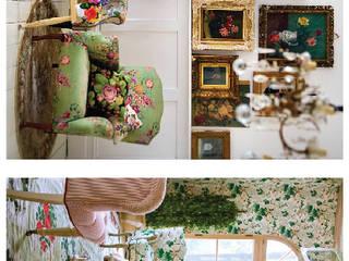 Floreciendo y despertando Salones rústicos rústicos de Flor de Limonero Rústico