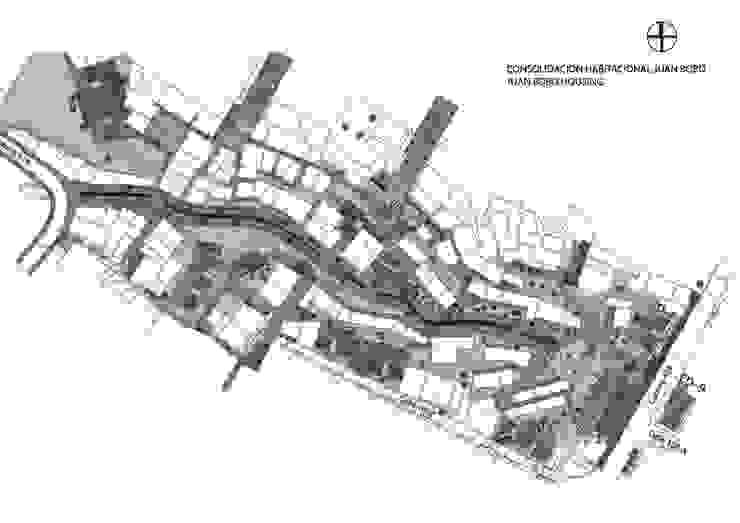 Intervencion Urbano Integral Comuna Nororiental Medellin de ARQUITECTOS URBANISTAS A+U Moderno