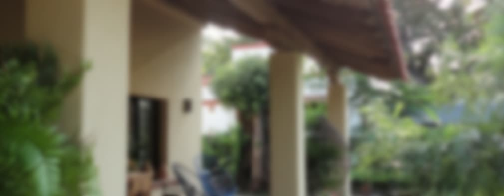 CASA COMALA: Terrazas de estilo  por ARQUITECTOS BARRERA OSORIO