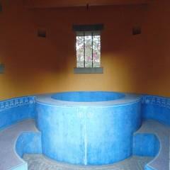 Huerta en Tesistán: Paredes de estilo  por Taller Luis Esquinca