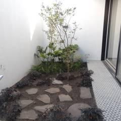 Jardins de fachada  por Verde Lavanda