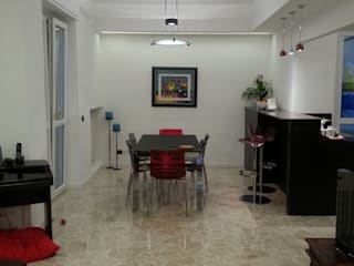 RIMODELLAZIONE APPARTAMENTO IN VIA SAVONA A MILANO: Sala da pranzo in stile  di BIANCO DESIGN,