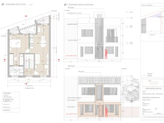 Proposed Front Elevations:  Houses by Horizon Design Services Ltd
