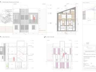Proposed Rear Elevations:  Houses by Horizon Design Services Ltd