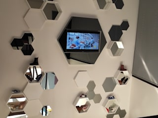 Espaces de bureaux modernes par Método-Arquitectura & Decoração Moderne