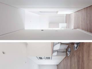 Vivienda en Paseo de la Florida, Madrid Pasillos, vestíbulos y escaleras de estilo moderno de Interioristas Dimeic, diseñadores y decoradores en Madrid Moderno
