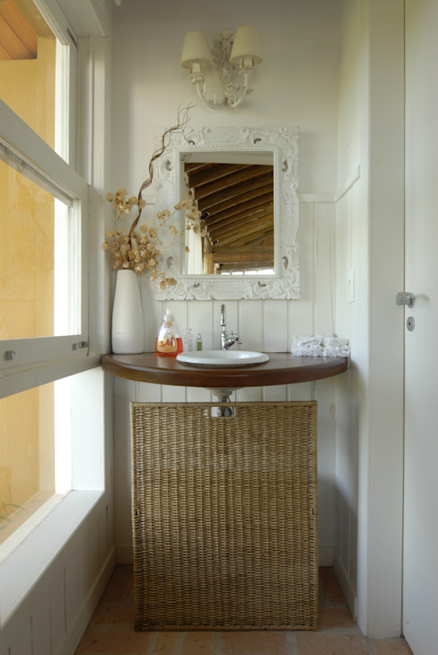 Baños de estilo  por Carmen Saraiva Arquitetura, Rústico