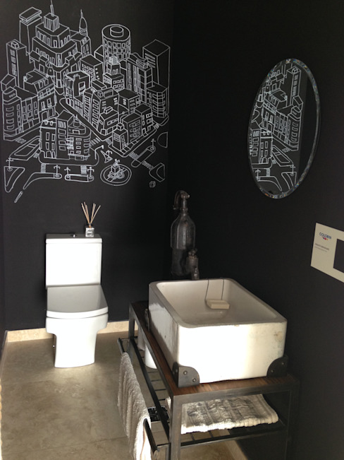 Bathroom by Azora Estudio, Eclectic