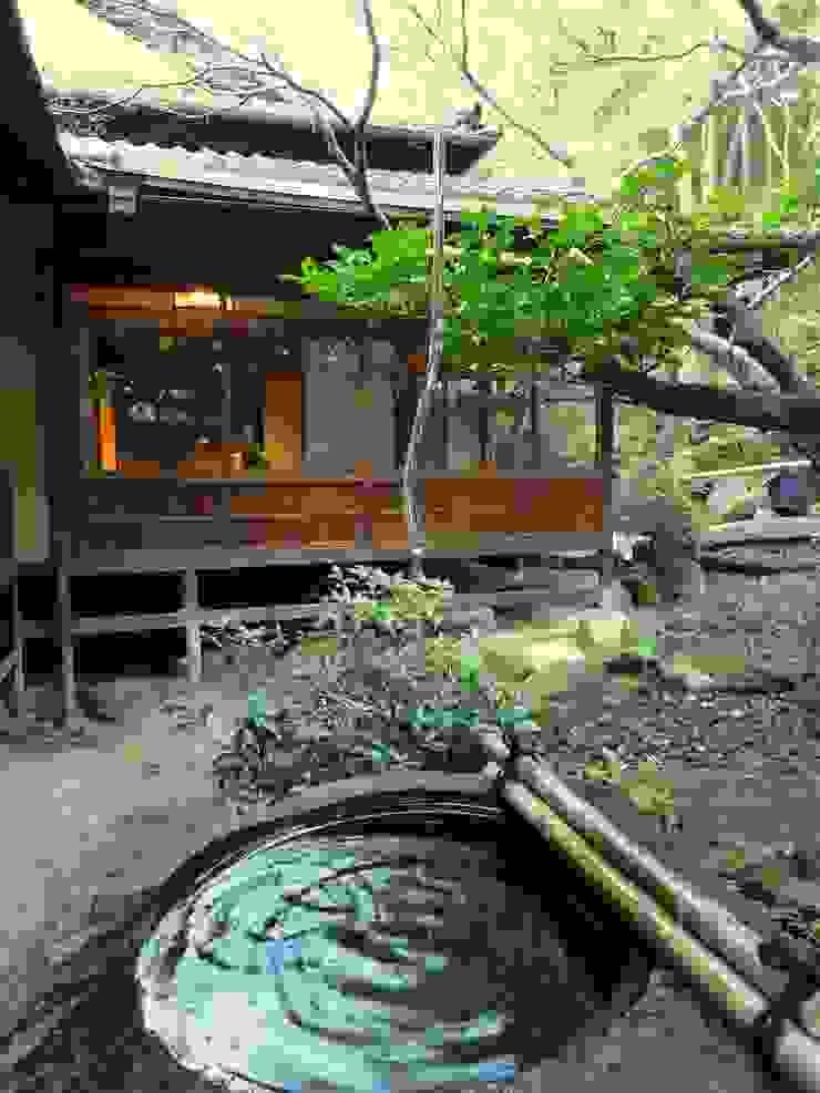 ガラスの筧 オリジナルな 庭 の 木村博明 株式会社木村グリーンガーデナー オリジナル