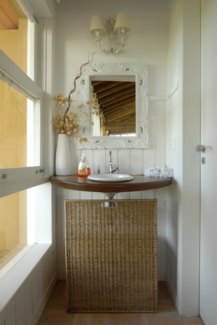 Rustikale Badezimmer von Carmen Saraiva Arquitetura Rustikal