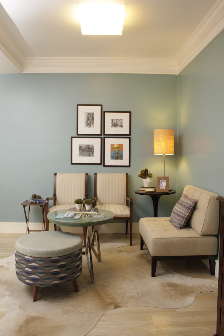 Phòng khách phong cách Địa Trung Hải bởi Fernanda Moreira - DESIGN DE INTERIORES Địa Trung Hải