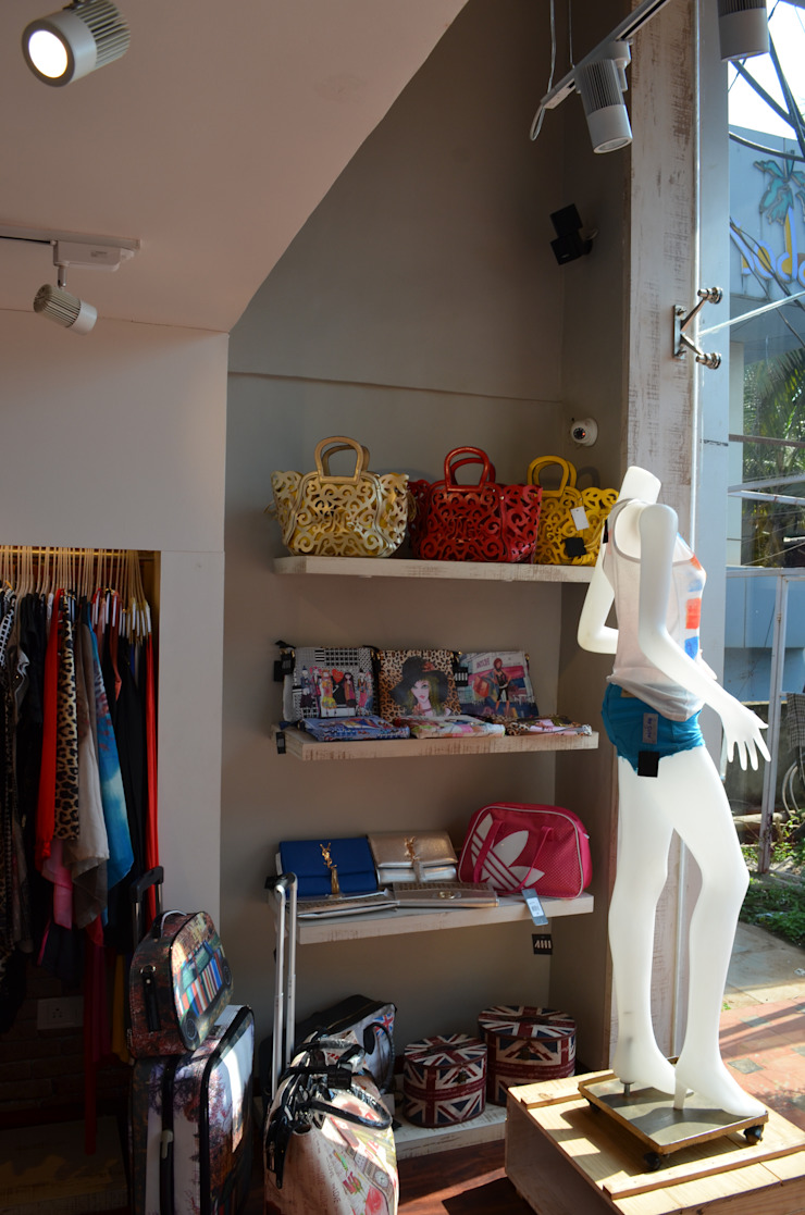 Boutique At Baga Beach, Goa, India by rahulsuratkar Country Plywood