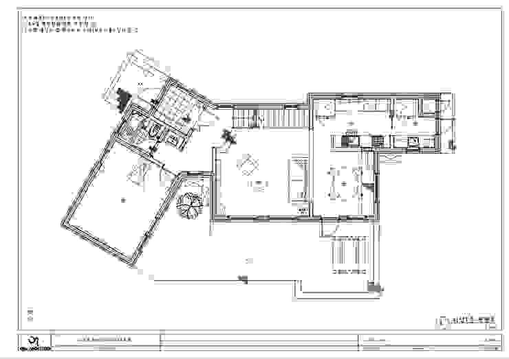 양평 서종면 정배리 1층 평면도: 위드하임의 현대 ,모던