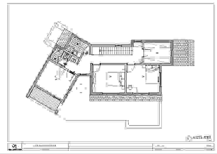 양평 서종면 정배리 2층 평면도: 위드하임의 현대 ,모던