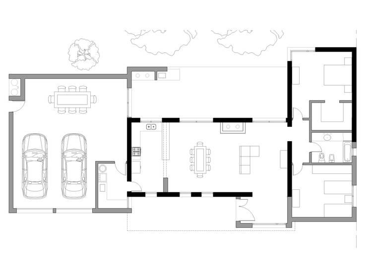 Reforma de casa en las afueras de Colon pcia de Buenos Aires:  de estilo  por Emilio arquitectura,