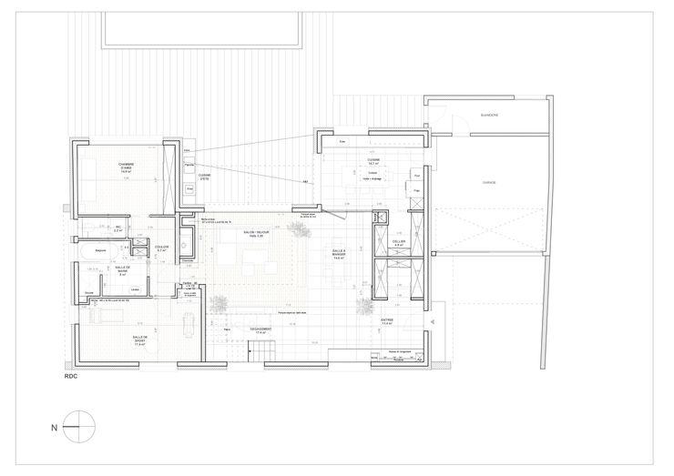 PLAN RDC Lionel CERTIER - Architecture d'intérieur Salle à manger moderne