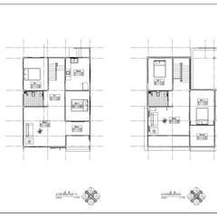 บ้านพักอาศัยสองชั้น อ.สันป่าตอง จ.เชียงใหม่:  บ้านสำหรับครอบครัว โดย แบบบ้านออกแบบบ้านเชียงใหม่,