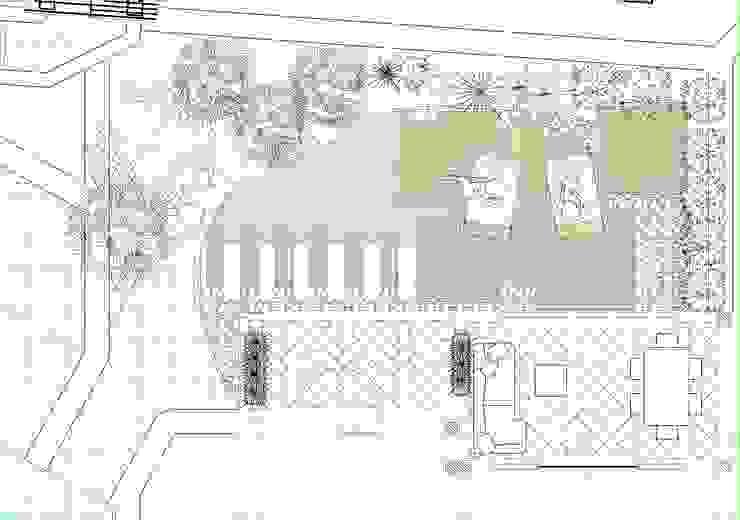 Pianta giardino Giardino in stile mediterraneo di Architetto Alessandro spano Mediterraneo