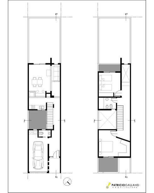 Planos de 7 casas peque as para que te inspires a dise ar - Distribucion casa alargada ...