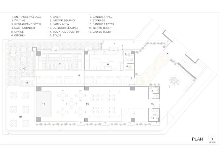 Furniture layout:   by The Interior Workshop
