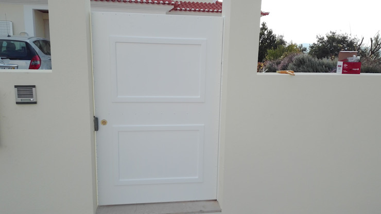 Bordalo Portas e Automatismos Portes d'intérieur Métal Blanc