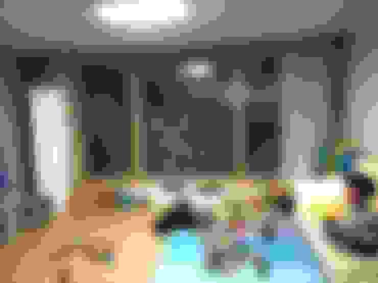 광교 서재형거실 홈스타일링(Kwanggyo APT): homelatte의  서재 & 사무실