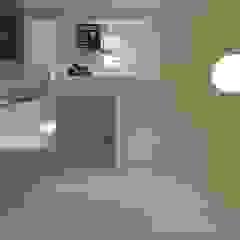 schüller.innenarchitektur Minimalist corridor, hallway & stairs Glass White