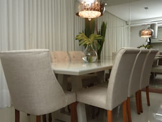 """Apartamento Madison Residence """"Aconchego e Funcionalidade"""" Salas de estar modernas por Jorge Machado Arquitetos Moderno"""
