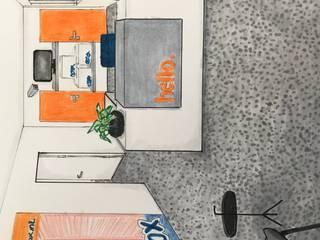 Interieur concept voor kantoor Moderne kantoorgebouwen van Studio Room by Room Modern