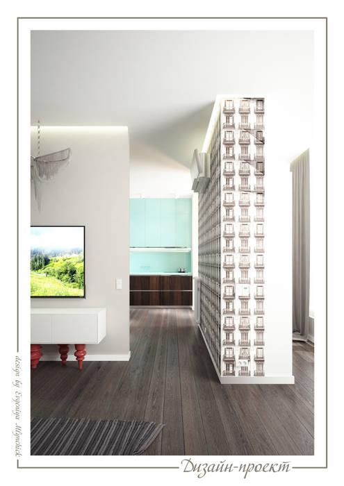 Salon de style  par mlynchyk interiors , Éclectique