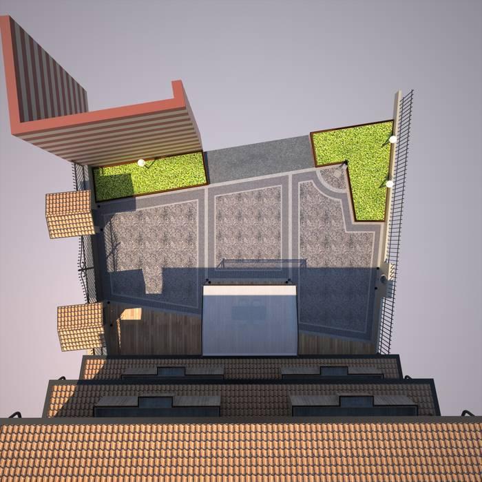 Rendering - vista dall' alto: Case in stile in stile Rustico di TRIIIO