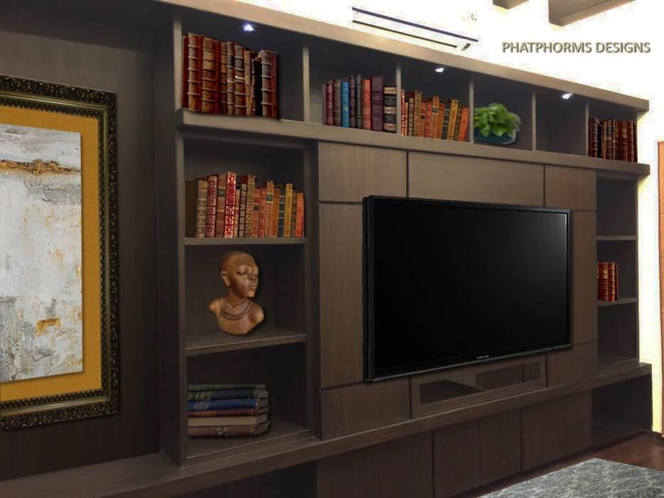 Library-cum-Entertainment Room Phat Phorms Designs