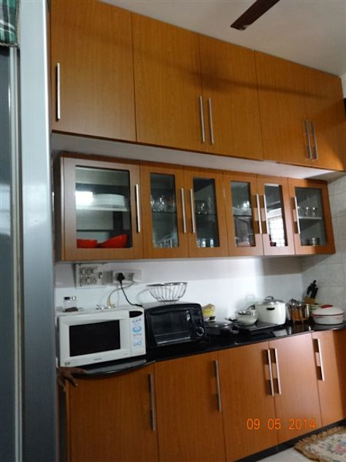 aashita modular kitchen Kitchen Plywood Brown