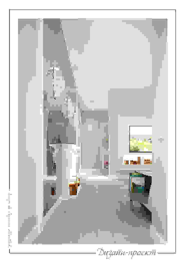 Pasillos, vestíbulos y escaleras eclécticos de mlynchyk interiors Ecléctico