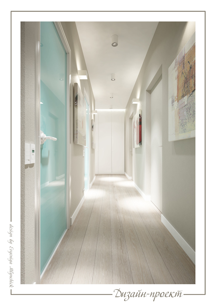 Eclectic style corridor, hallway & stairs by mlynchyk interiors Eclectic