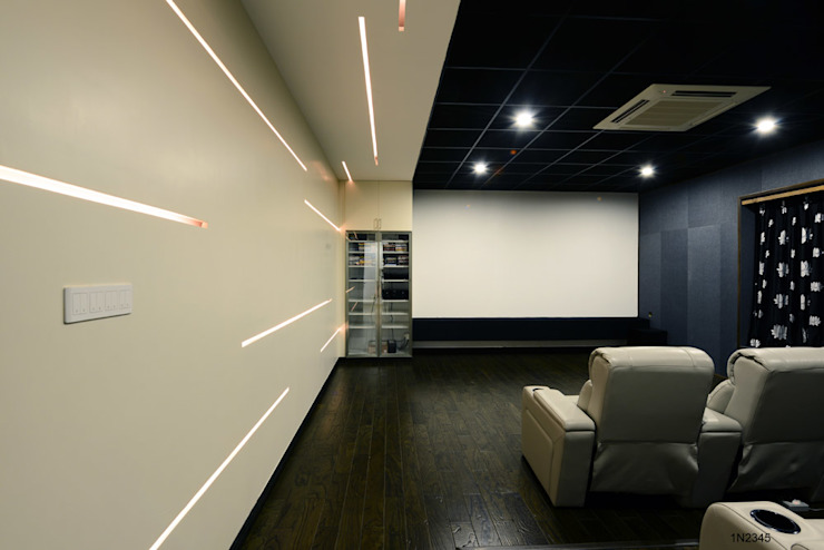 Residential Bungalow Modern media room by NA ARCHITECTS Modern
