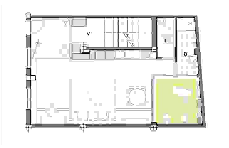 Planta de la intervención de Loft 26 Moderno