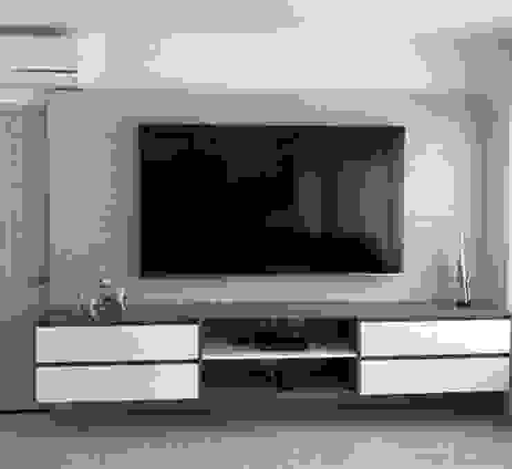SALA DE TV PROYECTO PARAÍSO DE CIUDAD JARDÍN de HOME CONCEPT Moderno