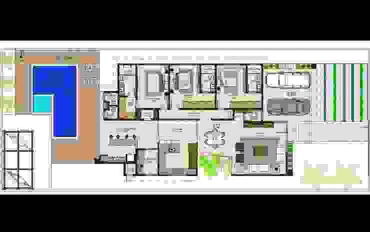 Planta Baixa - Térreo por Marcelle de Castro - arquitetura interiores Moderno