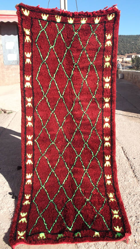 berber carpet: mediterranean Dining room by Africancreates