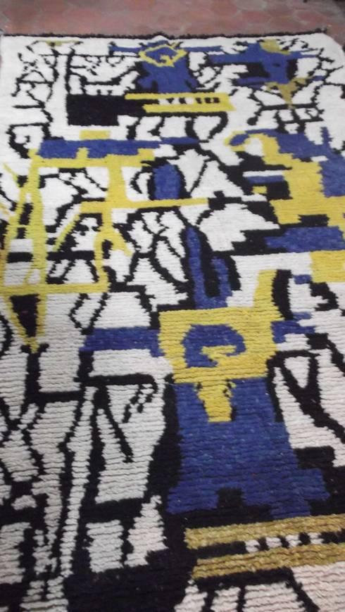 berber wool boujad carpet: mediterranean Dining room by Africancreates