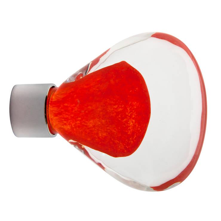 Bouton de meuble Vénus rouge chili: Maison de style  par Les  Verreries de Bréhat