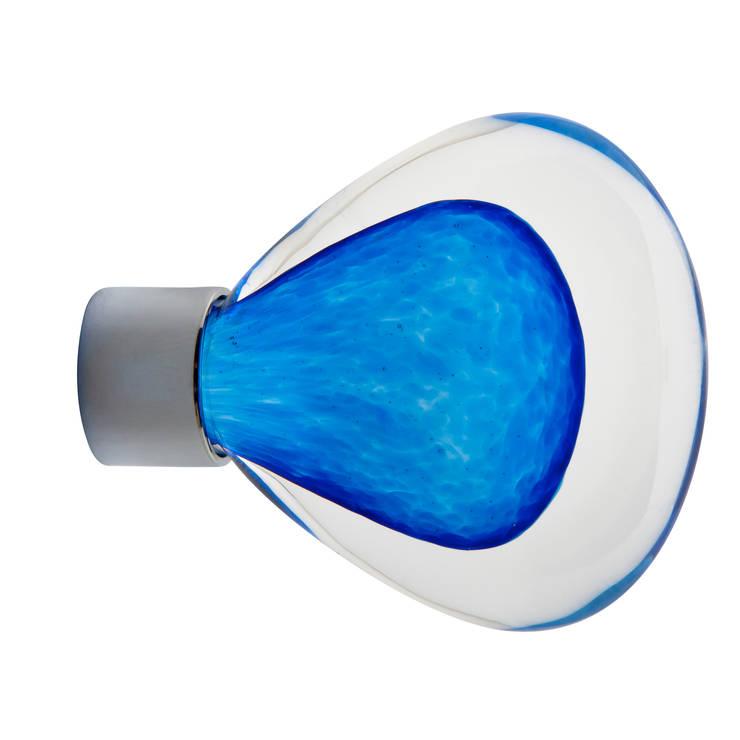 Bouton de meuble Vénus bleu: Maison de style  par Les  Verreries de Bréhat